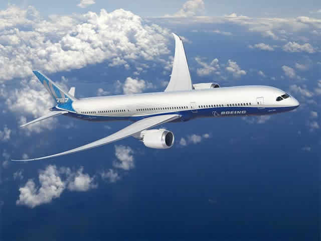 Boeing 787-10 Dreamliner in flight