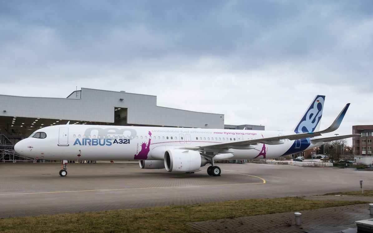 rollout of the first Airbus A321neo ACF on January 5, 2018