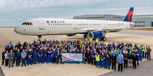 Airbus delivers 50th A320 Family airliner at its Mobile, Alabama assembly plant