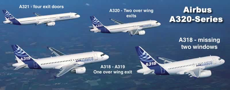 Spotting and identification guide for the Airbus A320 family of jetliners: A318, A319, A320 and A321