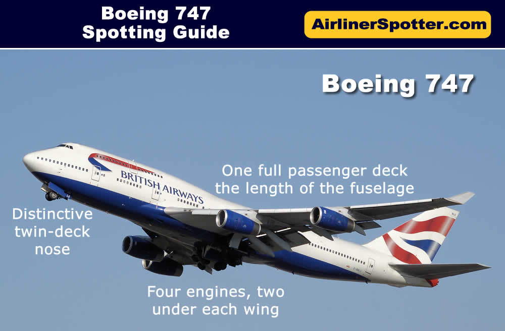 Boeing 747 spotting guide