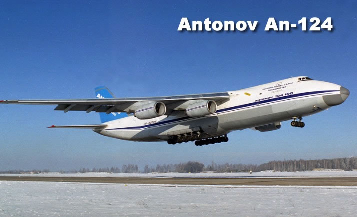 Antonov 124-100 Ruslan, four engines under the wing