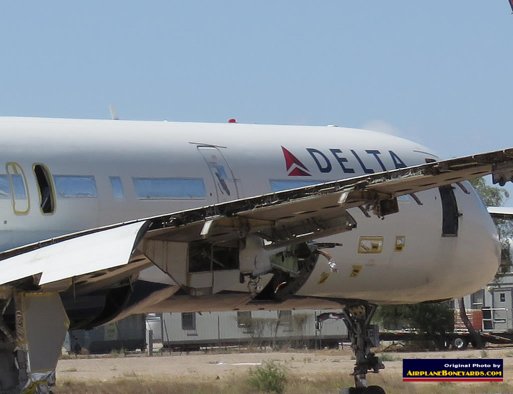 Delta Air Lines Boeing 757-232 N604DL being salvaged at the Pinal Airpark in Arizona