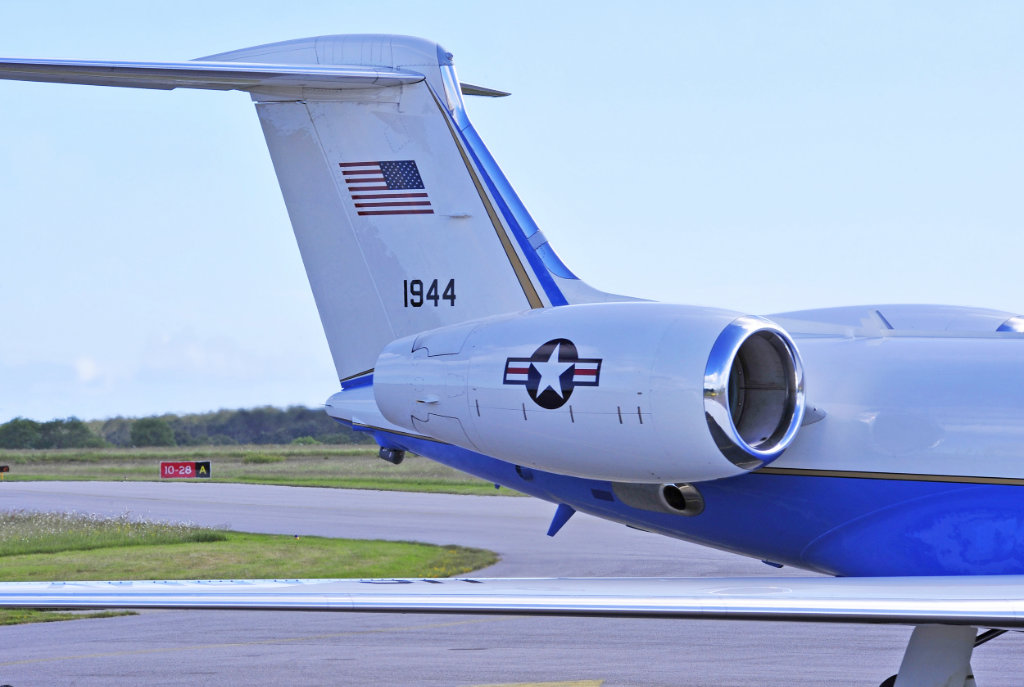 Gulfstream G550, United States of America, Tail Number 1944, at Cherbourg, France, on June 5, 2014