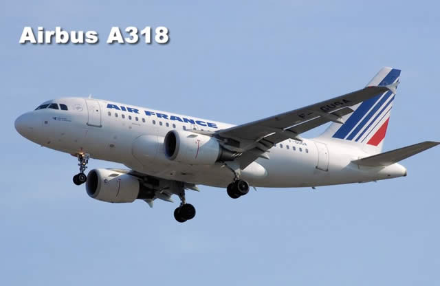 Air France Airbus A318, the smallest member of the A320 family