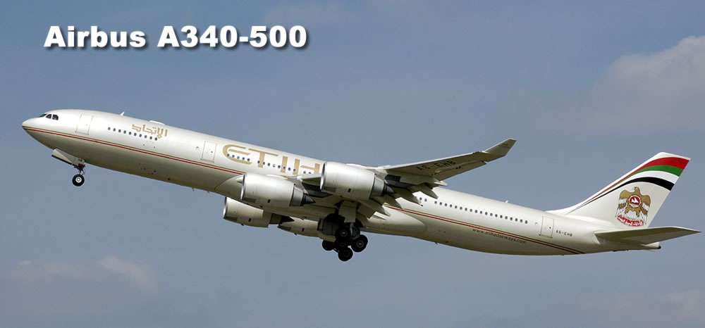 Airbus A340-500 of Ethiad Airways