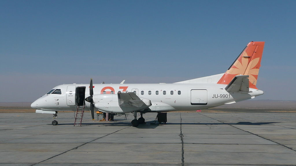 Saab 340B of Eznis Airways, Registration JU9901